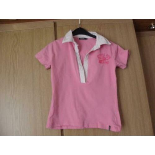 Goedkoop roze katoen college stretch polo shirt CARS 164 XS