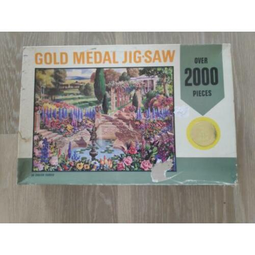 Oude Tower Press Gold Medal legpuzzel Aan English Garden