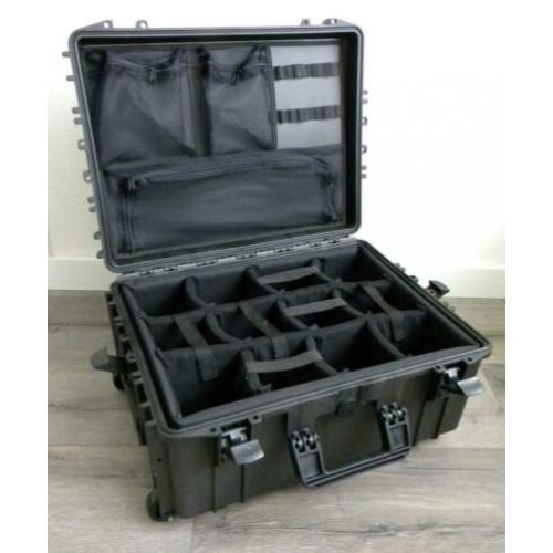 Ekof Case 540 met Trolley en Dividers (Peli Case 1560 alt.)